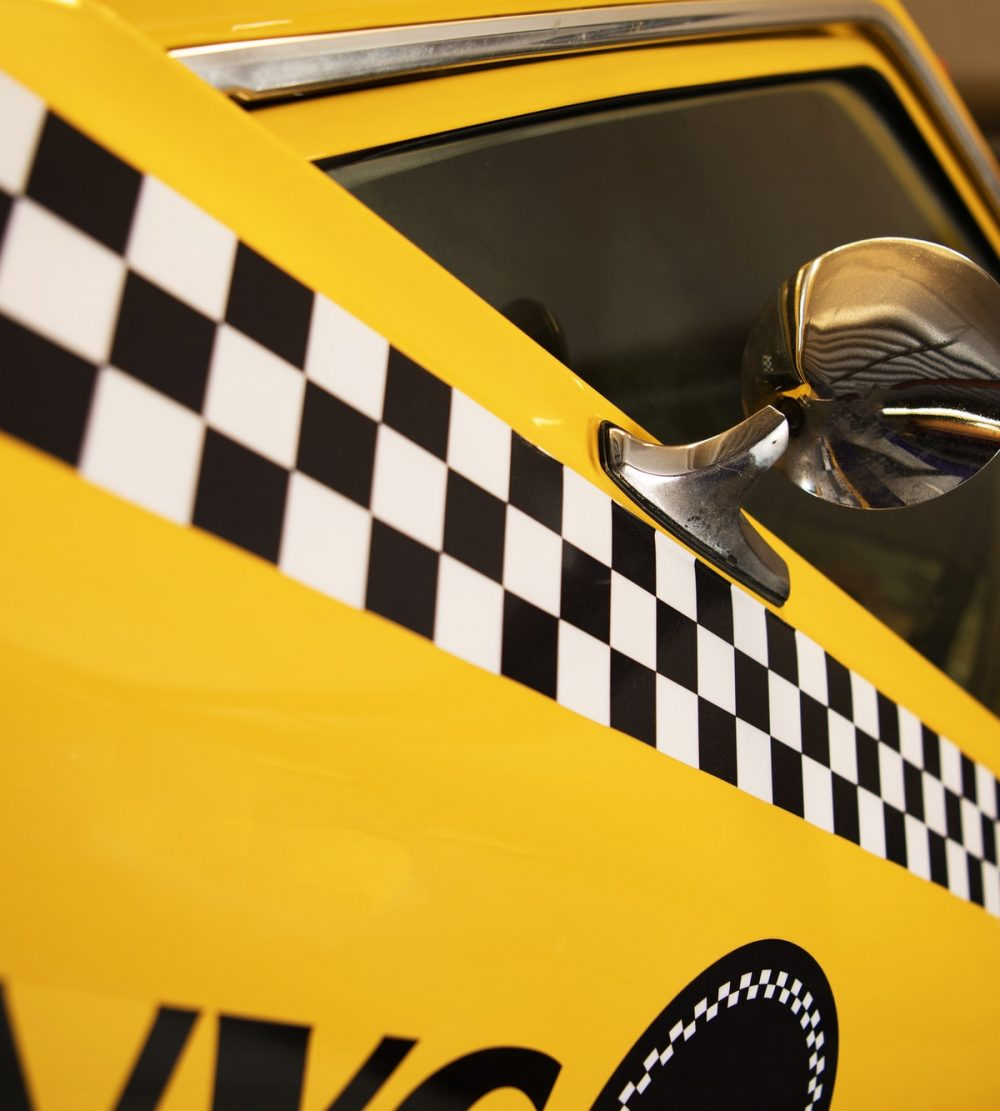 Yellow Taxi Cab Closeup